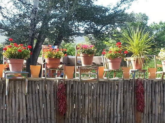 Inn on the Rio: Cute flower pots sitting on chairs