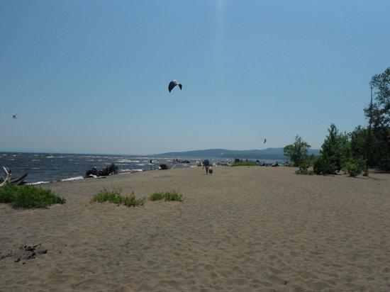 Kite Surfing On Lake Champlain Plattsburgh Picture Of