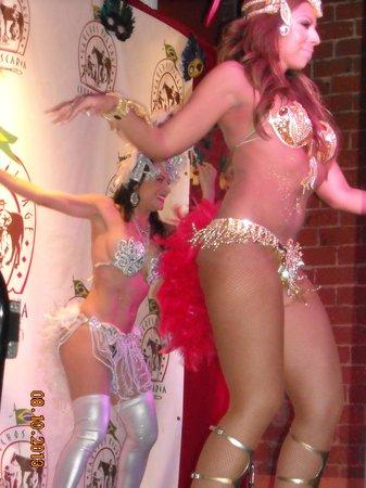 Gaucho's Village: Close upshot of one dancer