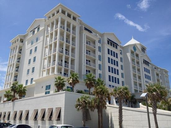 Margaritaville Beach Hotel: From the east parking lot.