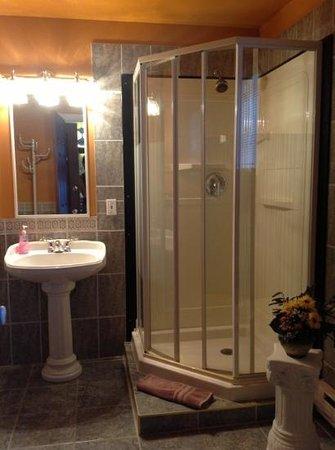 Gîte de la Maison Blanche : salle de bains de la chambre de la musicienne
