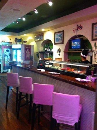 MK Sushi and Thai: inside bar/sushi area