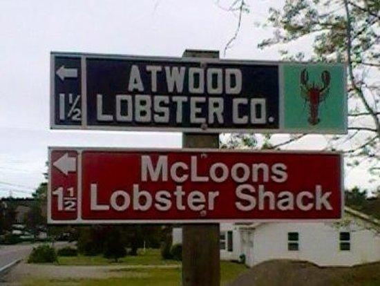 McLoons Lobster Shack : take island road in spruce head!
