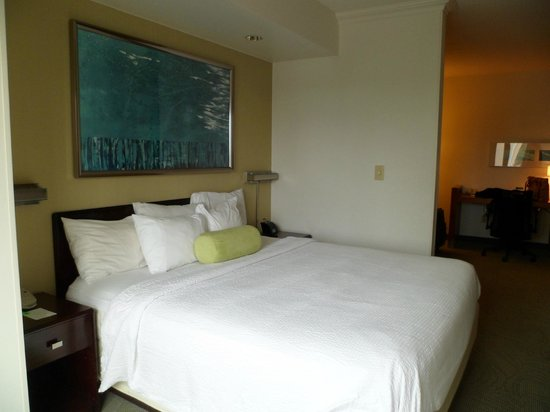 SpringHill Suites Newark Liberty International Airport: cama de tamaño king muy comoda