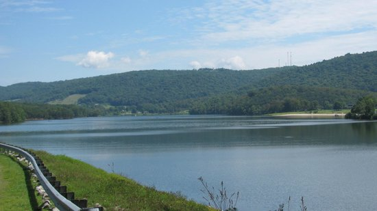Rocky Gap State Park: Long view of the lake.