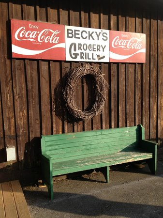 Becky's Grocery & Grill : In Case You have to wait...