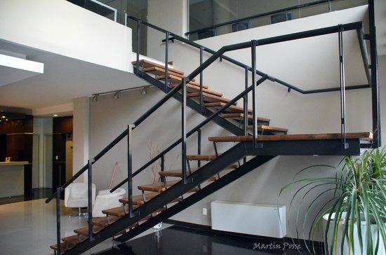 Gran Hotel Flores: escalera interior