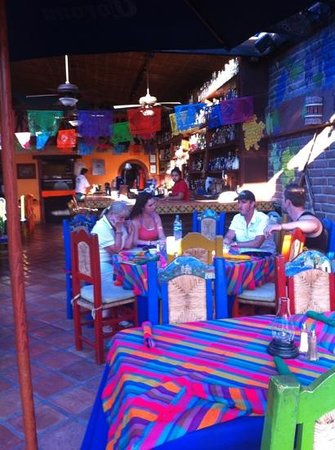 Pancho's Restaurant & Tequila Bar: Table near bar and entrance