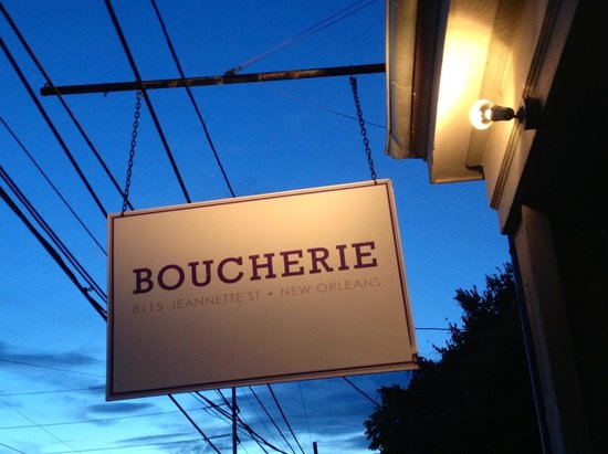Boucherie Menu New Orleans Restaurants