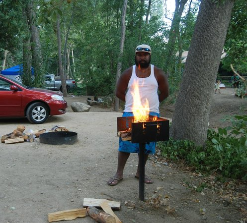 Camp James Campground: Striking up the Barbecue