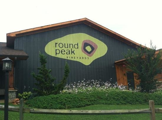 Round Peak Vineyard: When you pull up to the vineyard.
