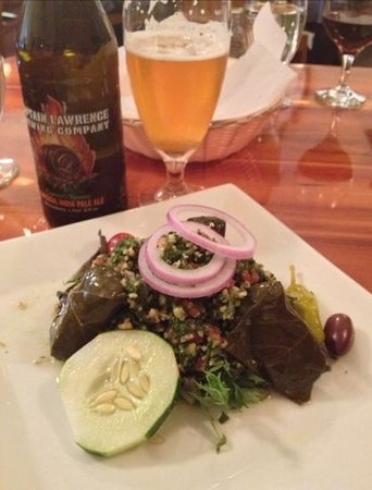 Joshua's : tabbouleh and stuffed grape leaves appetizer