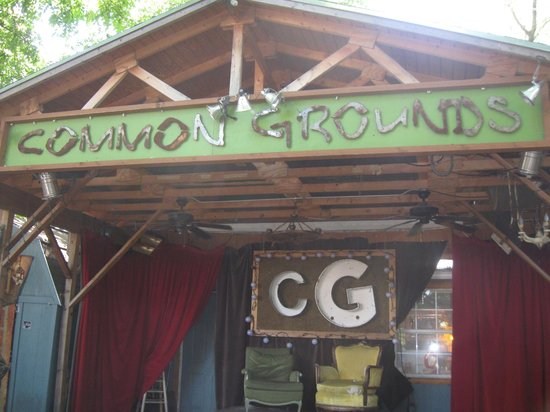 Common Grounds: Looking at the stage in the back of the establishment