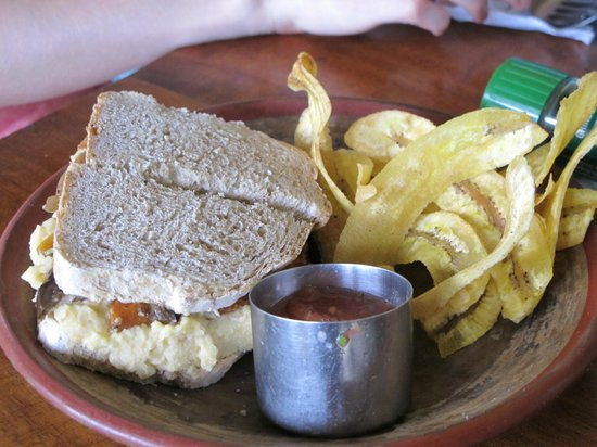 Cafe Campestre: Roasted Vegetables with Hummus Sandwich