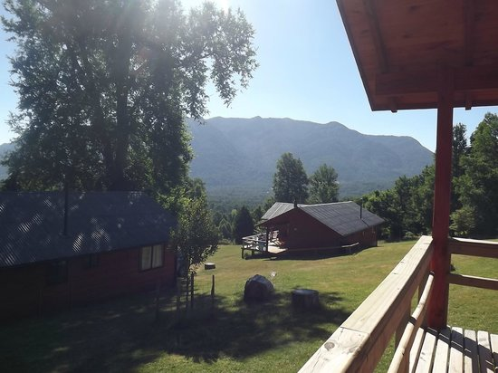 Mirador los Volcanes Lodge & Boutique: Vista desde la cabaña!