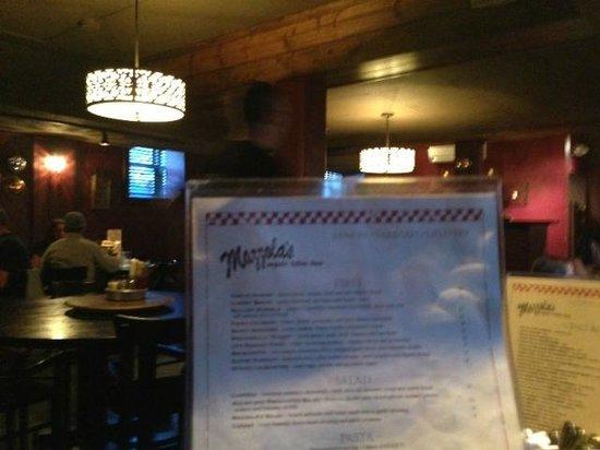 Mazzola's Italian Diner: Menu at Mazzola's