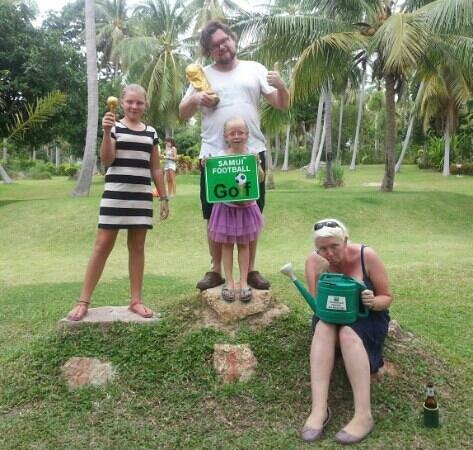 Samui Football Golf Club: winners and lookers. all had fun.