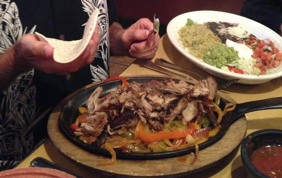 Diego's Spirit Kitchen: My wife's cousin with the pork carnitas.