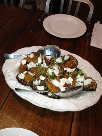 TARA Guest House: A special eggplant and pumpkin dish.
