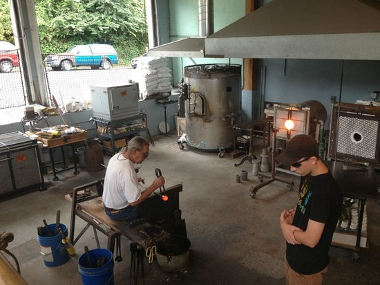 Fort George Brewery + Public House: Local glass blower around the corner