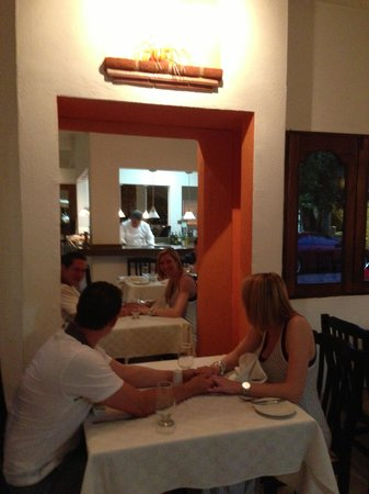 Casa Naranjo: watching the chef in the open kitchen