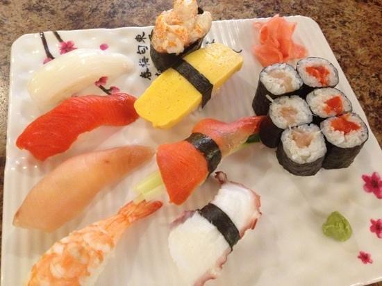 Arigato Sushi: assorted sushi combo