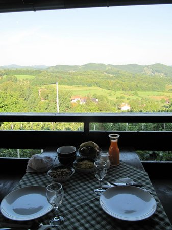 Guesthouse Pavlin: Breakfast was waiting for us on the terrace