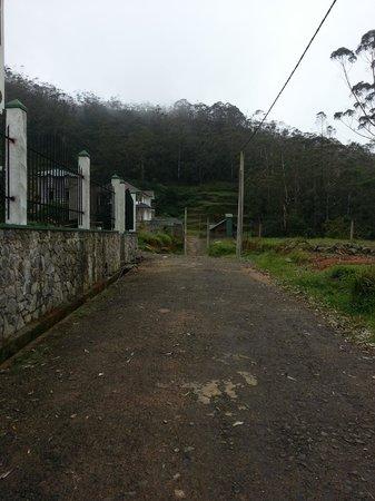Hill Breeze Villa: Road in front of the villa