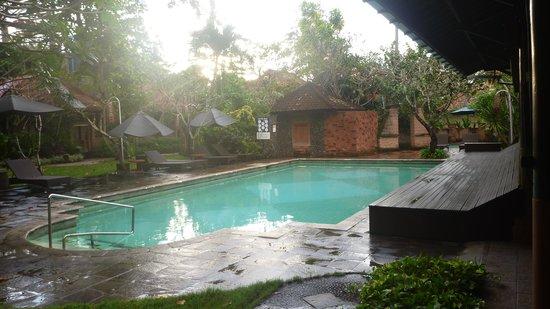 Peneeda View Beach Hotel: main swimming pool with bench