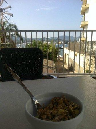Hotel Es Mitjorn: View from breakfast