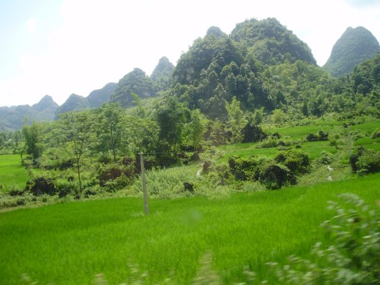 Vietnam Jeep Private Day Tours: Cau Bang paddy fields and cone shape mountain