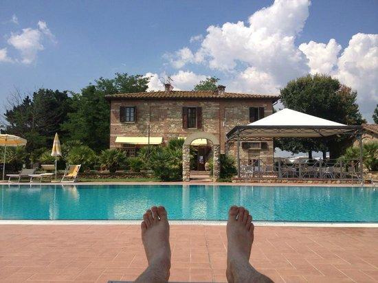 Podere Gli Olmi : zwembad en hoofdgebouw