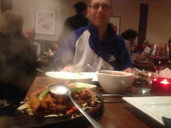 The Spice Room: mixed grill and hot vindaloo best my husband has ever tasted and he had it Indian hot as well