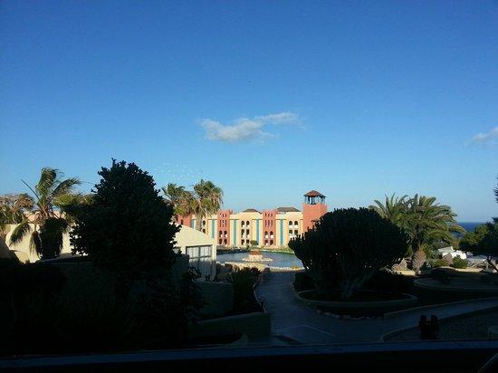 VIK Suite Hotel Risco del Gato : Vue de salle a manger de l'hôtel