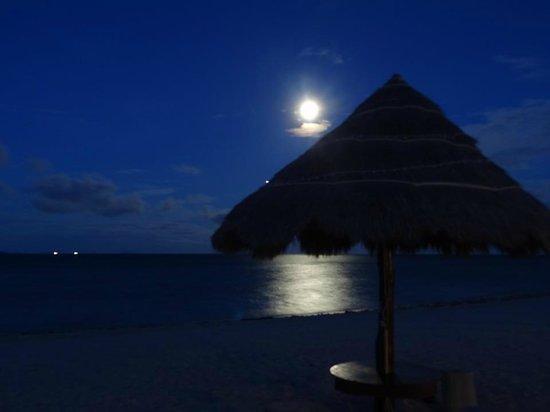 Nice Sea Resort: Beach full moon view