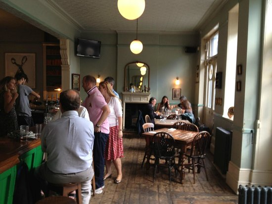 The Drapers Arms: Downstairs, front bar - a good place to sit