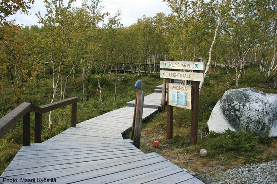 Kilpisjarvi Visitor Centre: The path to the Visitor Centre starts here.