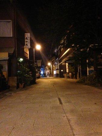 Kannanwaso : 旅館前の通り