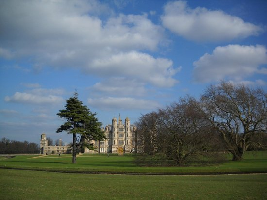 Burghley Park: view of the castle
