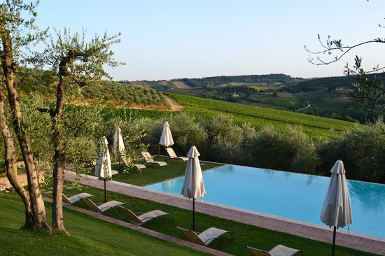 Fattoria Abbazia Monte Oliveto : Uitzicht zwembad1