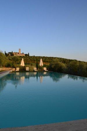 Fattoria Abbazia Monte Oliveto : Uitzicht zwembad3