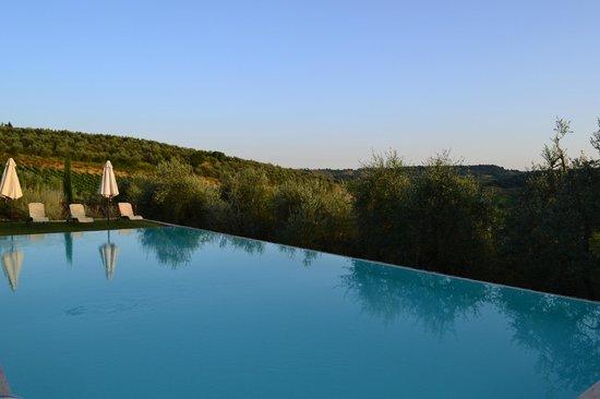 Fattoria Abbazia Monte Oliveto : Uitzicht zwembad2