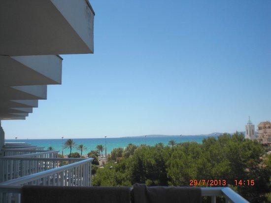 Hotel Riu Concordia: vue sur mer