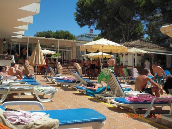 Hotel Riu Concordia: piscine et bar