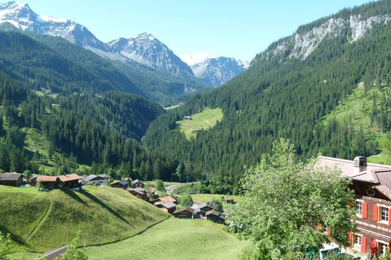 View from the balcony of Chalet Wieselti
