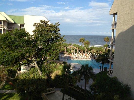 Villamare Villas Resort at Palmetto Dunes: Villamare - view from 3423 condo