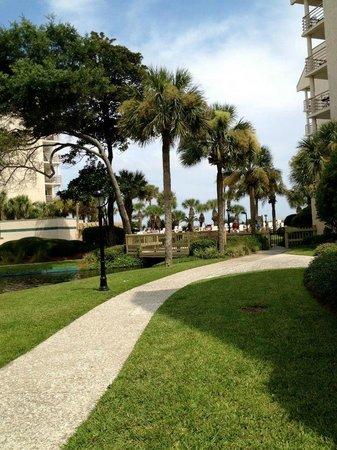 Villamare Villas Resort at Palmetto Dunes: Villamare - on way to the pool/beach