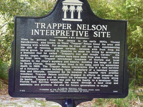 Jonathan Dickinson State Park: historical sign