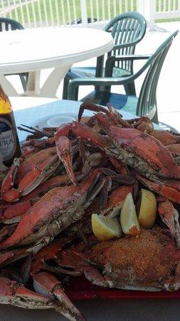 Tim's at Lake Anna: mound of crabs