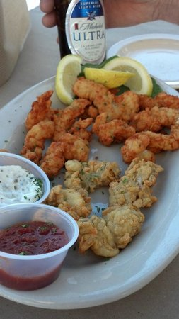 Tim's at Lake Anna: clam strips and oysters!